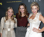 Jenni Barber, Alicia Silverstone & Ari Graynor attending the Broadway Opening Night Performance After Party for 'The Performers' at E-Space in New York City on 11/14/2012