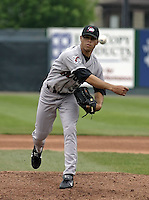 May 10, 2004:  Pitcher Ian Snell of the Altoona Curve, Double-A affiliate of the Pittsburgh Pirates, during a game at Jerry Uht Park in Erie, PA.  Photo by:  Mike Janes/Four Seam Images