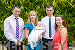 Mark Fitzgerald, Killarney celebrated his christening with his parents Myra and JJ and god parents Christopher Fitzgerald and Caroline Breen in the Killarney Oaks Hotel on Sunday afternoon