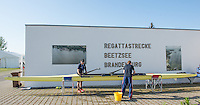 Brandenburg. GERMANY. GBR M2X, Caches left Mark BANKS and Jane HALL clean and check the boat at the <br /> 2016 European Rowing Championships at the Regattastrecke Beetzsee<br /> <br /> Saturday  07/05/2016<br /> <br /> [Mandatory Credit; Peter SPURRIER/Intersport-images]