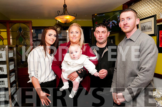 Baby Noah Patrick Sayersl with his parents Sarah O'Connor & Garrett Sayers and godparents Sarah Murphy & Robert Heffernanl who was christened in St. Mary's Church, Listowel by Canon Declan O'Connor and afterwards at the Saddle Bar, Listowel.