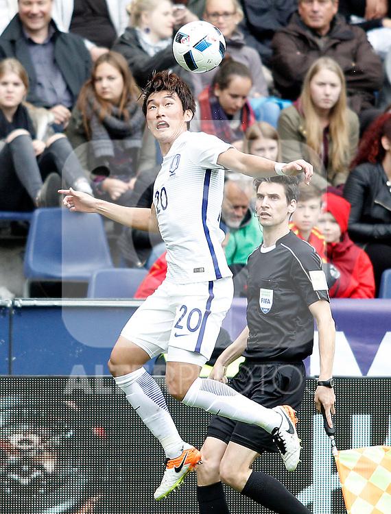 South Korea's Hyunsoo Jang during friendly match. June 1,2016.(ALTERPHOTOS/Acero)