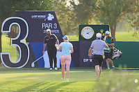 Shane Lowry (IRL) getting some cold drinks from his brother Alan and girlfriend Kate Whyte on the 13th tee during the Pro-Am for the DP World Tour Championship at the Jumeirah Golf Estates in Dubai, UAE on Monday 16/11/15.<br /> Picture: Golffile | Thos Caffrey<br /> <br /> All photo usage must carry mandatory copyright credit (© Golffile | Thos Caffrey)