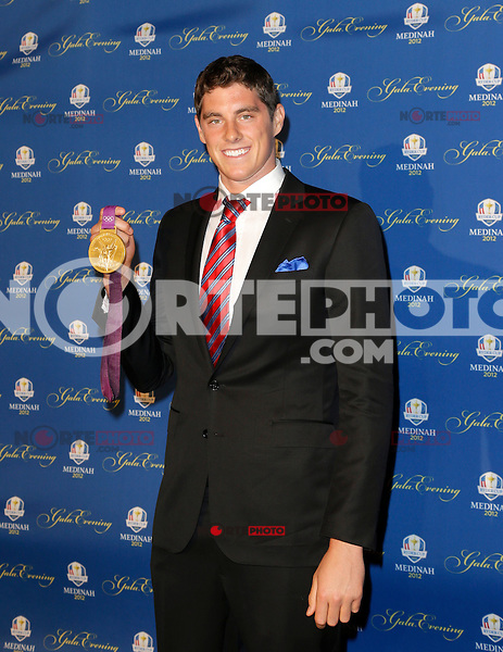 September 26, 2012: 2012 US Olympic Team swimmer Conor Dwyer arrives on the red carpet for the 39th Ryder Cup Gala at Akoo Theatre in Rosemont, Illinois, USA. Credit: Kamil Krzaczynski/MediaPunch Inc. /NortePhoto