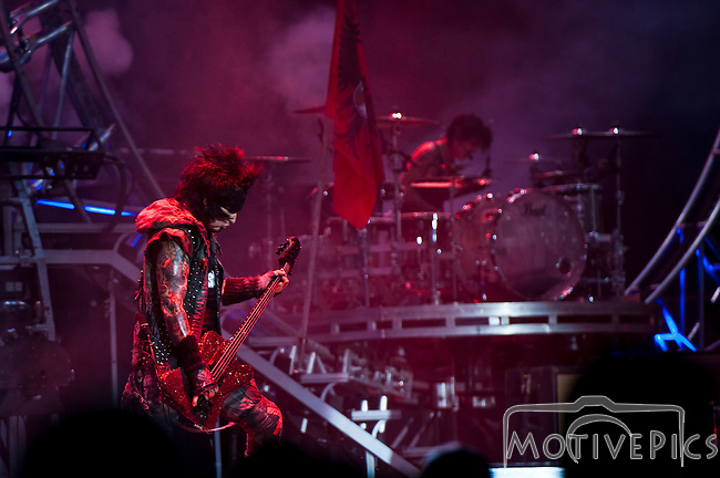 Motley Crue at Verizon Wireless Amphitheater in St. Louis MO, performing on The Tour 2012 with Kiss.