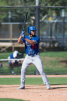 Los Angeles Dodgers first baseman Meaux Landry (33) at bat during an Instructional League game against the San Diego Padres at Camelback Ranch on September 25, 2018 in Glendale, Arizona. (Zachary Lucy/Four Seam Images)