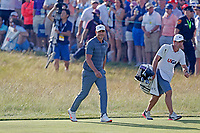 Brooks Koepka (USA) walks the 18th hole during the 118th U.S. Open Championship at Shinnecock Hills Golf Club in Southampton, NY, USA. 17th June 2018.<br /> Picture: Golffile | Brian Spurlock<br /> <br /> <br /> All photo usage must carry mandatory copyright credit (&copy; Golffile | Brian Spurlock)