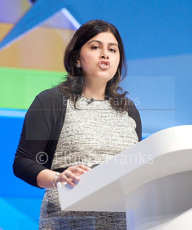 Conservative Party Annual Conference, Manchester, Great Britain <br /> 2nd - 5th October 2011 <br /> <br /> The Right Honourable<br /> The Baroness Warsi <br /> PC<br /> <br /> Minister without Portfolio<br /> <br /> Photograph by Elliott Franks