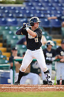 Pittsburgh Panthers Alex Griffith (17) at bat during a game against the Siena Saints on February 24, 2017 at Historic Dodgertown in Vero Beach, Florida.  Pittsburgh defeated Siena 8-2.  (Mike Janes/Four Seam Images)