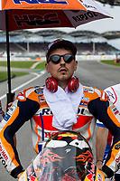 3rd November 2019; Sepang Circuit, Sepang Malaysia; MotoGP Malaysia, Race Day;  The number 99 Repsol Honda Team rider Jorge Lorenzo before the race - Editorial Use