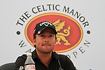 Graeme McDowell speaking at a press conference after his 7 under par round (64) on day three of the Celtic Manor wales Open 2010.Picture Fran Caffrey/Newsfile.ie