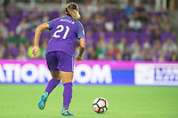 Orlando, FL - Saturday August 12, 2017: Monica Hickmann Alves during a regular season National Women's Soccer League (NWSL) match between the Orlando Pride and Sky Blue FC at Orlando City Stadium.