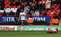 André Green of Charlton Athletic reaction to the final whistle during Charlton Athletic vs Middlesbrough, Sky Bet EFL Championship Football at The Valley on 7th March 2020