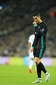 1st November 2017, Wembley Stadium, London, England; UEFA Champions League, Tottenham Hotspur versus Real Madrid; A dejected Cristiano Ronaldo of Real Madrid