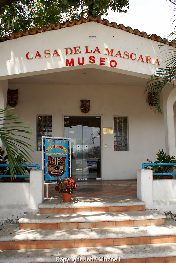The Museo Casa de la Mascara, Acapulco, Mexico. This museum displays masks from all over Mexico.