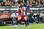 Borja Garcia Freire of Girona FC (front) fights for the ball with Nelson Cabral Semedo of FC Barcelona (back) during the La Liga 2017-18 match between FC Barcelona and Girona FC at Camp Nou on 24 February 2018 in Barcelona, Spain. Photo by Vicens Gimenez / Power Sport Images
