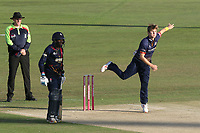 Adam Zampa in bowling action for Essex during Kent Spitfires vs Essex Eagles, Vitality Blast T20 Cricket at the St Lawrence Ground on 2nd August 2018