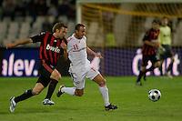 Hungary's league soccer team loosing 5:2 against the team of AC Milan. Budapest, Hungary. Wednesday, 22. April 2009. ATTILA VOLGYI