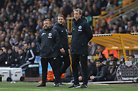 Graham Potter Head Coach of Brighton & Hove Albion and Billy Reid Assistant Head Coach of Brighton & Hove Albion watch their team attack during Wolverhampton Wanderers vs Brighton & Hove Albion, Premier League Football at Molineux on 7th March 2020