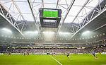 Solna 2015-08-10 Fotboll Allsvenskan AIK - Djurg&aring;rdens IF :  <br /> Vy &ouml;ver Friends Arena med publik p&aring; l&auml;ktarna under matchen mellan AIK och Djurg&aring;rdens IF <br /> (Foto: Kenta J&ouml;nsson) Nyckelord:  AIK Gnaget Friends Arena Allsvenskan Djurg&aring;rden DIF inomhus interi&ouml;r interior supporter fans publik supporters
