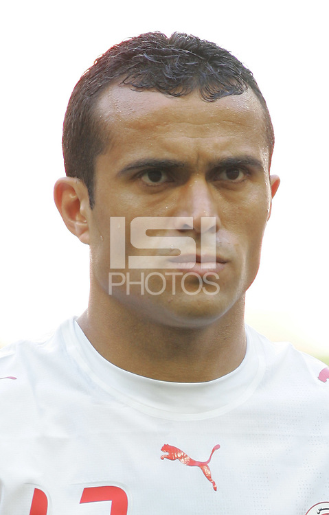 Jaouhar Mnari of Tunisia. Saudi Arabia and Tunisia played to a 2-2 tie in their FIFA World Cup Group H match at FIFA World Cup Stadium, Munich, Germany, June 14, 2006.