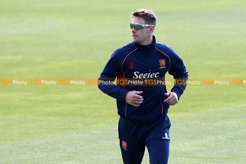 Robbie White of Essex warms up during Surrey CCC vs Essex CCC, Specsavers County Championship Division 1 Cricket at the Kia Oval on 11th April 2019
