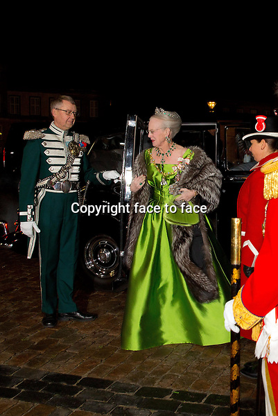 01-01-2014 Amalienborg Queen Margrethe at the New Years reception at Amalienborg in Copenhagen.<br /> Credit: Nieboer/PPE/face to face<br /> - No Rights for Netherlands -