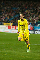Villarreal´s Luciano Dario Vietto during 2014-15 La Liga match between Atletico de Madrid and Villarreal at Vicente Calderon stadium in Madrid, Spain. December 14, 2014. (ALTERPHOTOS/Luis Fernandez) /NortePhoto