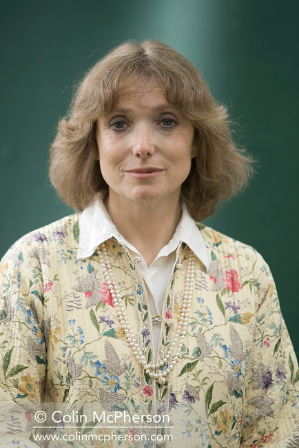 British writer Diana Preston, pictured at the Edinburgh International Book Festival where she talked about her book on the Taj Mahal co-written with husband Michael. The Book Festival was the World's largest literary event and featured writers from around the world. The 2007 event featured around 550 writers and ran from 11-27 August.