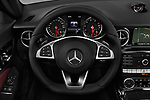 Car pictures of steering wheel view of a 2018 Mercedes Benz SLC Sportline 2 Door Convertible