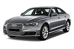2016 Audi A6 - 4 Door Sedan Angular Front stock photos of front three quarter view
