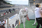 June 17th 2017, Hunaroring, Budapest, Hungary; DTM Motor racing series;  Winner Paul di Resta (GBR, HWA AG, Mercedes-AMG C63 DTM) on the podium in champagne shower
