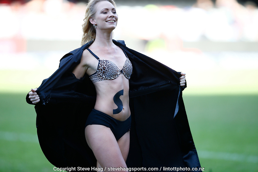 Sharks Flasher cheerleaders during the Super Rugby match between Cell C Sharks and Hurricanes at Jonsson Kings Park Stadium in Durban, South Africa on Saturday, 1 June 2019. Photo by Steve Haag / stevehaagsports.com