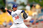 19 March 2006: Eric Gagne, pitcher for the Los Angeles Dodgers, on the mound during a Spring Training game against the Washington Nationals at Holeman Stadium, in Vero Beach, Florida. The Dodgers defeated the Nationals 9-1 in Grapefruit League play...Mandatory Photo Credit: Ed Wolfstein Photo..