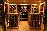 View of the climate controlled wine cellar at the home of Pete and Judi Dawkins in Rumson, New Jersey. CREDIT: Bill Denver for the Wall Street Journal..NYHODRUMSON