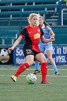 Rochester, NY - Friday July 01, 2016: Western New York Flash defender Abigail Dahlkemper (13) during a regular season National Women's Soccer League (NWSL) match between the Western New York Flash and the Chicago Red Stars at Rochester Rhinos Stadium.