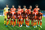 Jeju United FC squad pose for team photo during the AFC Champions League 2017 Group H match between Jeju United FC (KOR) vs Jiangsu FC (CHN) at the Jeju World Cup Stadium on 22 February 2017 in Jeju, South Korea. Photo by Marcio Rodrigo Machado / Power Sport Images