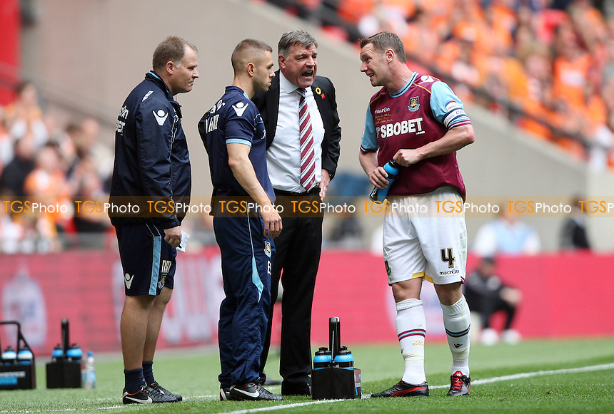 West Ham manager Sam Allardyce gives instructions to his captain Kevin Nolan - Blackpool vs West Ham United , npower Championship Play-off Final at Wembley Stadium, London - 19/05/12 - MANDATORY CREDIT: Rob Newell/TGSPHOTO - Self billing applies where appropriate - 0845 094 6026 - contact@tgsphoto.co.uk - NO UNPAID USE..