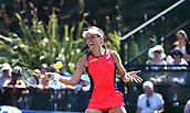 June 17th 2017, Nottingham, England;WTA Aegon Nottingham Open Tennis Tournament day 6;  Forehand from Johanna Konta of Great Britain in the semi final against Magdalena Rybarikova of The Slovak Republic