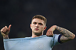 Kieran Trippier of Atletico Madrid removes his shirt after the final whistle of the UEFA Champions League match at Juventus Stadium, Turin. Picture date: 26th November 2019. Picture credit should read: Jonathan Moscrop/Sportimage
