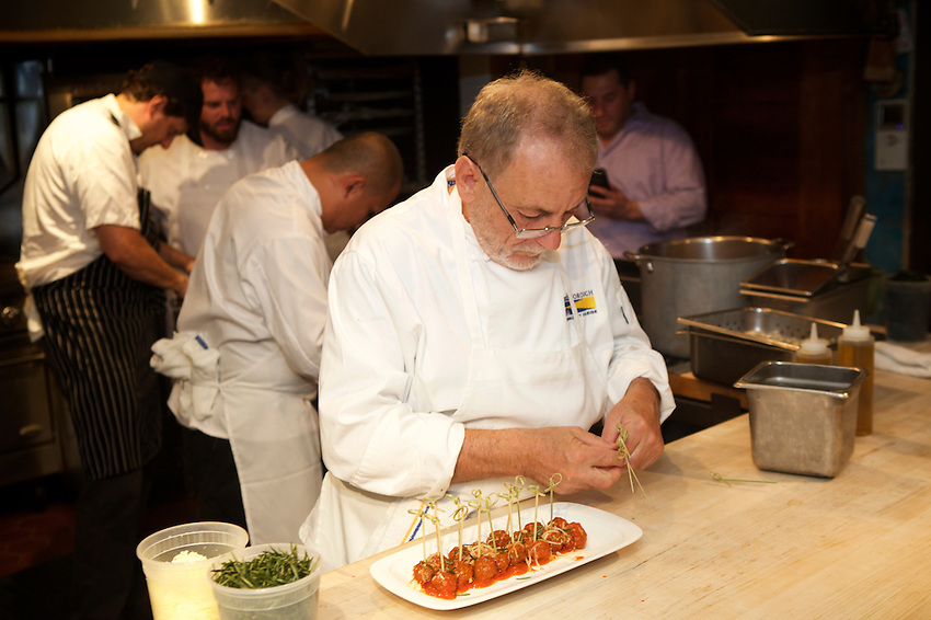 New York, NY - August 15, 2016: Chef Jordan Frosolone presents Ferragosto, a Midsummer Italian dinner at the James Beard House.<br /> <br /> CREDIT: Clay Williams for The James Beard Foundation.<br /> <br /> &copy; Clay Williams / claywilliamsphoto.com