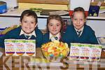 BREKKIE: Enjoying the Childline breakfast morning at the Nagle-Rice national school in Milltown on Friday morning last were l-r: Gavin Moriarty, Niamh O'Sullivan, Kayleigh Doyle.