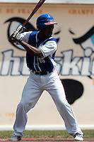 15 July 2010: Felix Brown of Team Saint Martin is seen at bat during day 3 of the Open de Rouen, an international tournament with Team France, Team Saint Martin, Team All Star Elite, at Stade Pierre Rolland, in Rouen, France.