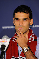 New York Red Bulls new signing Rafael Marquez during a New York Red Bulls press conference at Red Bull Arena in Harrison, NJ, on August 03, 2010.