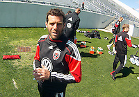 Ben Olsen head coach of D.C. United during a training session in Hapgood Stadium on the campus of the Citadel,on March 11 2011, in Charleston, South Carolina