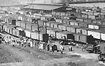 Pittsburgh PA:  View of the daily activity in the railroads yards around the 22nd street in the strip district - 1925.