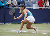 June 16th 2017, The Northern Lawn tennis Club, Manchester, England; ITF Womens tennis tournament; Gabriella Taylor (GBR) in action during her quarter final singles match against number seven seed Aleksandra Krunic (SRB); Krunic won in straight sets