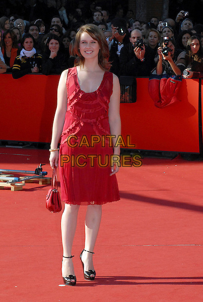 "MANUELA VELLES.Film Premiere of  ""Caotica Ana"" during the 2nd Annual Rome Film Festival, Rome, Italy, 21st October 2007..full length red dress bag black shoes.CAP/OME.©Gioia Botteghi/Omega/Capital Pictures."
