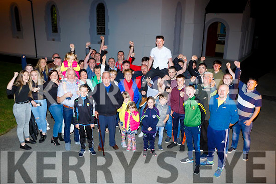 New Gneeveguilla Lord Mayor Padraig Doyle celebrates his success with his supporters on Friday night