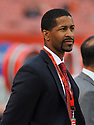 CLEVELAND, OH - SEPTEMBER 1, 2016: Vice president, player personnel Andrew Berry of the Cleveland Browns stands on the sideline prior to a game on September 1, 2016 against the Chicago Bears at FirstEnergy Stadium in Cleveland, Ohio. Chicago won 21-7. (Photo by: 2016 Nick Cammett/Diamond Images)  *** Local Caption *** Andrew Berry